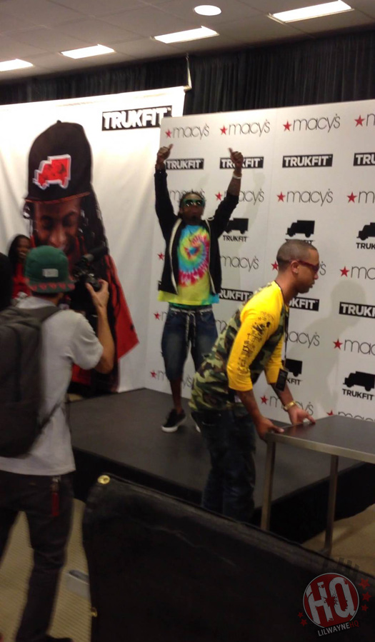 Lil Wayne Makes In-Store Appearance At Macys In Louisiana