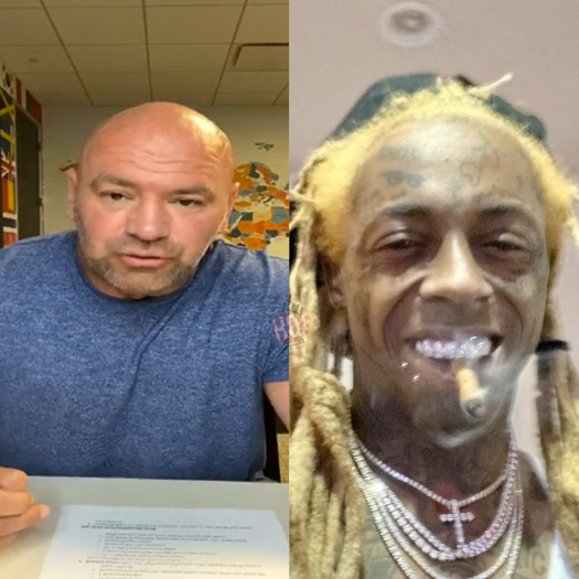 Lil Wayne Makes Predictions With Dana White For UFC 252