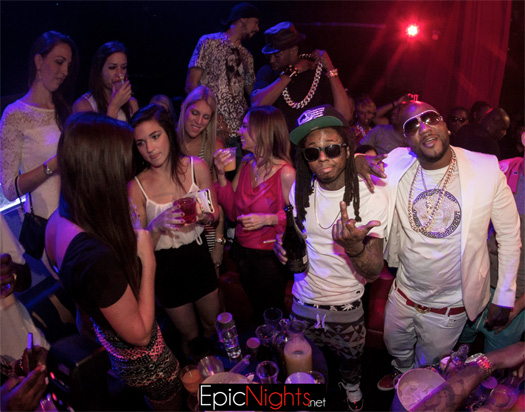 Lil Wayne Attends Mayweather vs Maidana Fight After Party With Young Jeezy & 2 Chainz
