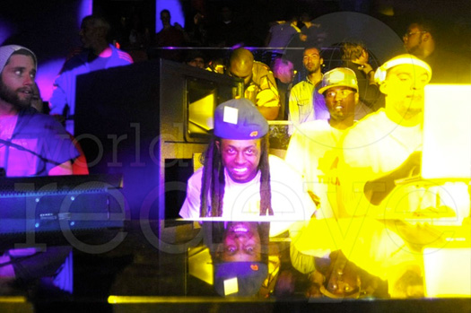 Lil Wayne Parties With Meek Mill At STORY Nightclub In Miami