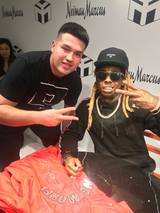 Lil wayne meets greets his fans at neiman marcus clothing store in lil wayne meets greets his fans at neiman marcus clothing store in los angeles m4hsunfo