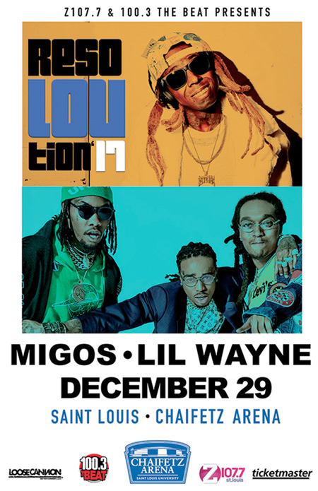 Lil Wayne & Migos To Headline ResoLOUtion 2017 In St Louis
