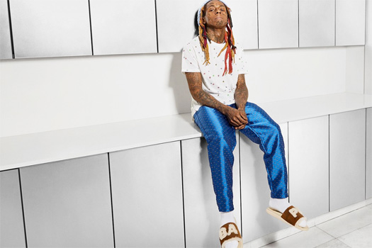 Lil Wayne Models BAPE & UGG New Campaign For Sheepskin Slides & Sneakers