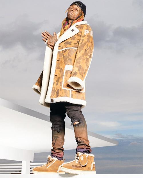 Lil Wayne Models The BAPE x UGG SS19 Campaign