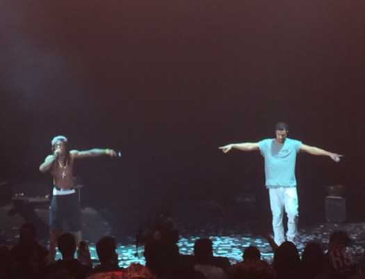Lil Wayne & Drake Perform Live In Mountain View California On Their Joint Tour