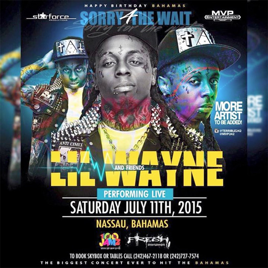 Lil Wayne To Perform At The National Stadium In Nassau Bahamas