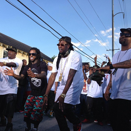 Lil Wayne On Set Of 2 Chainz Used 2 Video Shoot With The Hot Boys