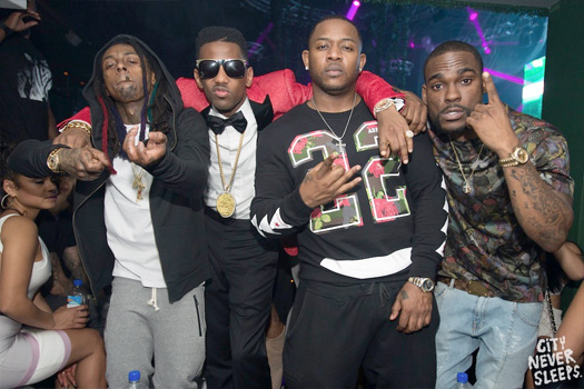 Lil Wayne Celebrates New Years At IVY Nightclub With Christina Milian & Fabolous