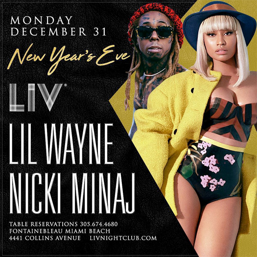 Lil Wayne & Nicki Minaj To Celebrate New Years Together In Miami