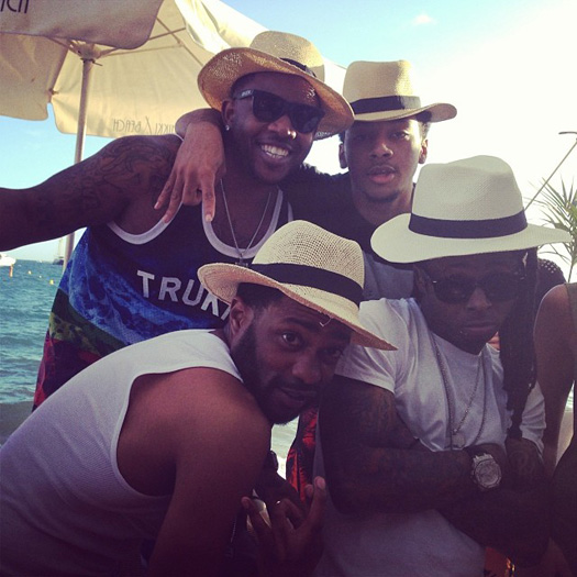 Lil Wayne Gets Turned Up At Nikki Beach In Cannes France