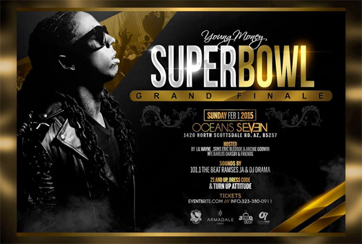 Lil Wayne Is Hosting A Party At Ocean 7 Nightclub In Arizona For The Super Bowl Grand Finale