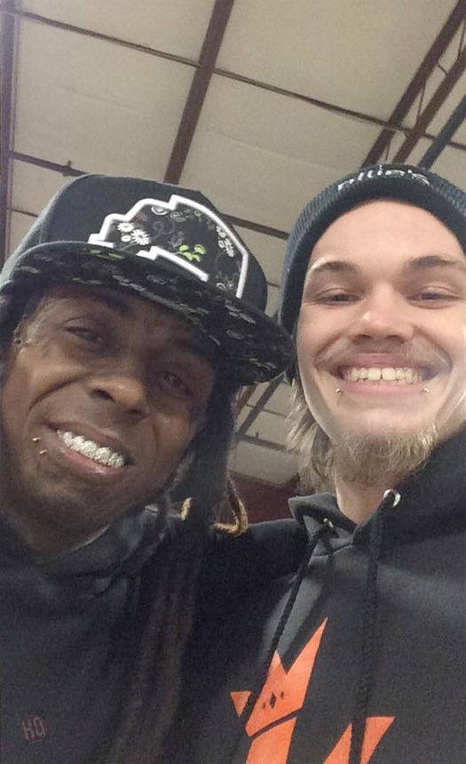 Lil Wayne Hits Up Ollies Skatepark In Kentucky For A Skating Session