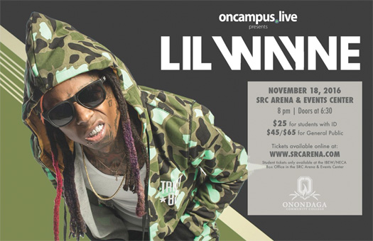 Lil Wayne To Perform Live At Onondaga Community College In Syracuse New York