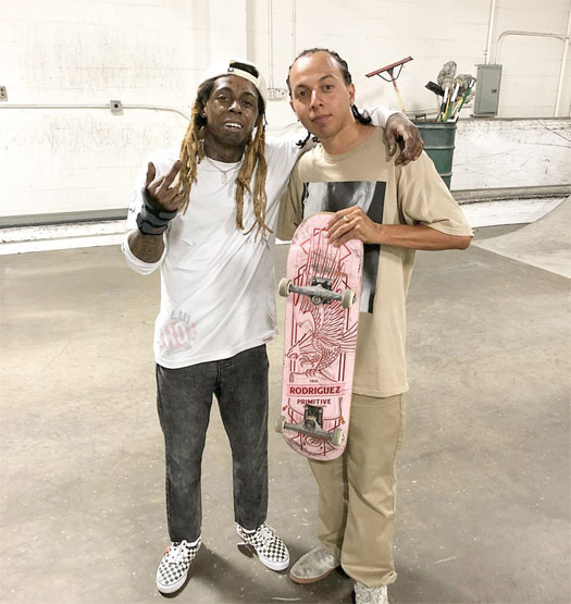 Lil Wayne Has An Overnight Skating Sesh In North Hollywood