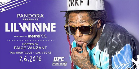 Lil Wayne & Paige VanZant To Host 2016 UFC International Fight Week At TAO In Las Vegas Tonight