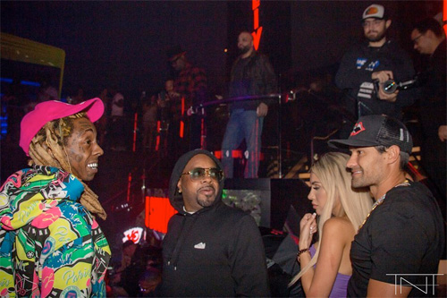 Lil Wayne Parties It Up During Big Game Weekend With 2 Chainz & Jermaine Dupri