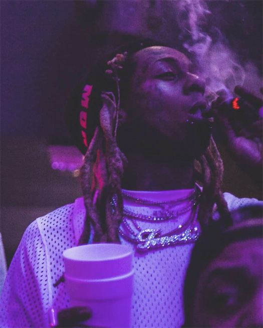Lil Wayne Parties At LIV In Miami, Vibes Out To Roddy Ricch The Box, Throws Up Gang Signs To Duffle Bag Boy