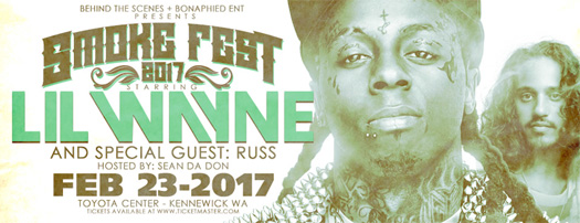 Lil Wayne To Perform Live On The 2017 Smoke Fest Tour In Washington