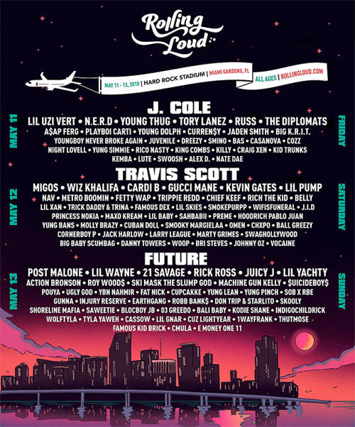 Lil Wayne To Perform Live At The 2018 Rolling Loud Music Festival In Miami