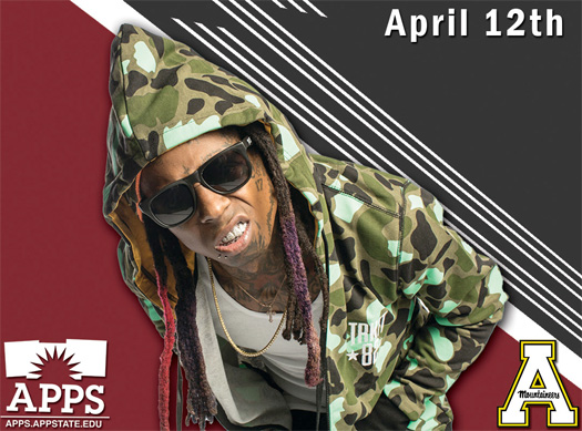 Lil Wayne To Perform Live For Appalachian State University In Boone North Carolina