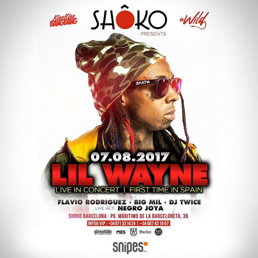 Lil Wayne To Perform Live For The First Time In Spain On His World Wide Weezy Tour