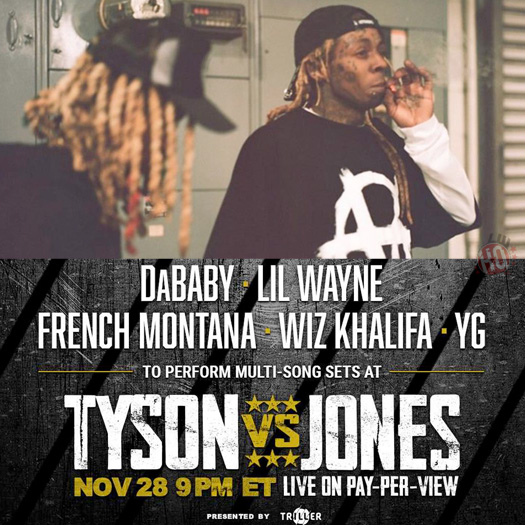 Lil Wayne To Perform Live At The Mike Tyson vs Roy Jones Jr Boxing Event