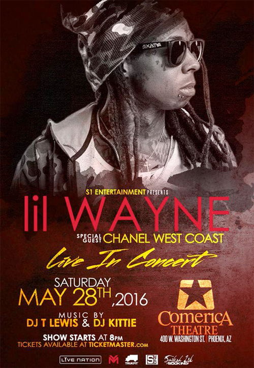 Lil Wayne Show At The Comerica Theatre In Phoenix Arizona Has Been Postponed