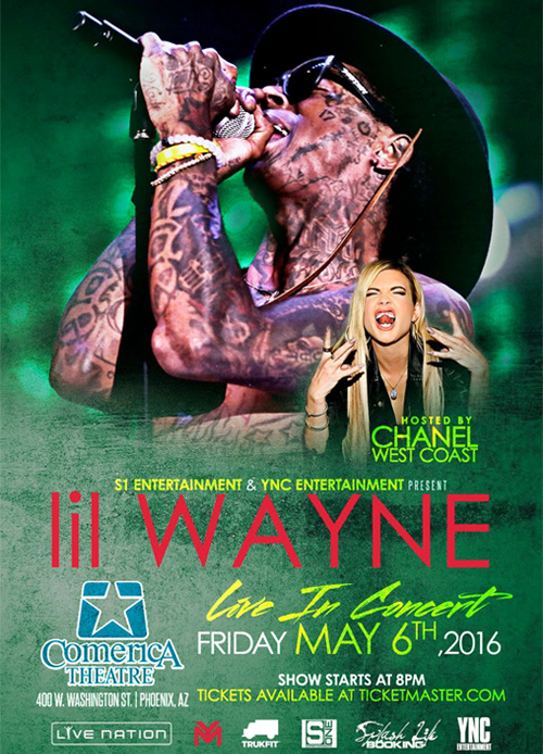 Lil Wayne To Perform Live At Phoenix Comerica Theatre In May