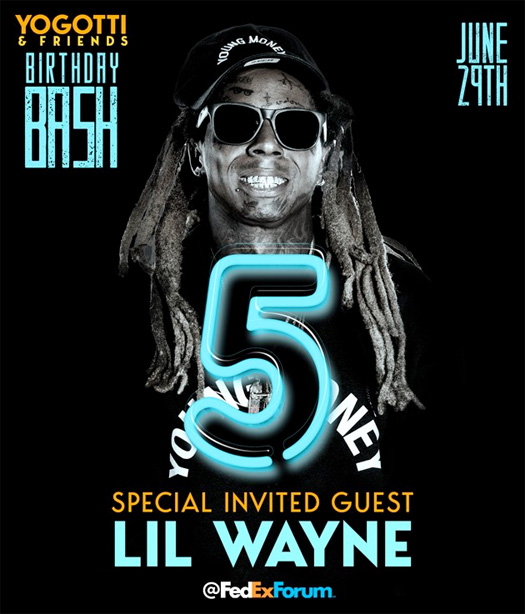Lil Wayne To Perform Live At Yo Gotti's 5th Annual Birthday Bash In Tennessee