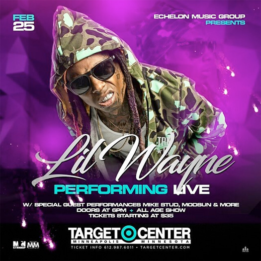 Lil Wayne To Perform Live At The Target Center In Minneapolis Minnesota