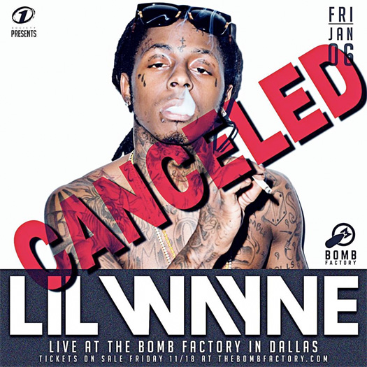 Lil Wayne's Performance At The Bomb Factory In Dallas Has Been Cancelled As He Pursues Future Projects