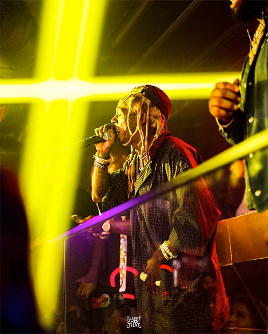 Lil Wayne Performs Live At Trent Williams Birthday Bash In Houston
