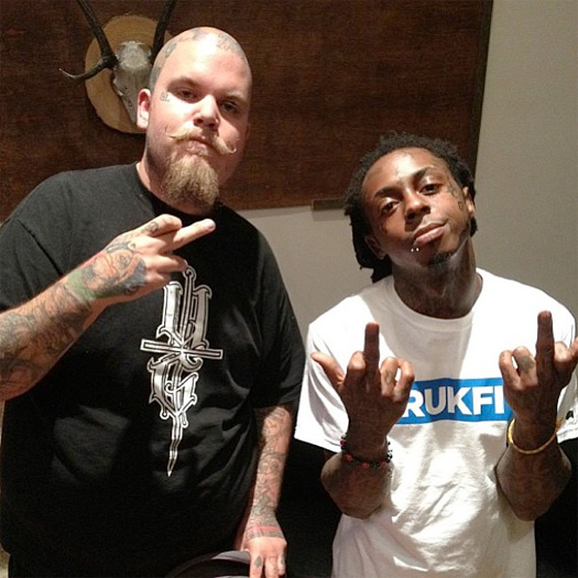 Lil Wayne Performs At Paris Hiltons Birthday Party, Gets A New Face Tattoo