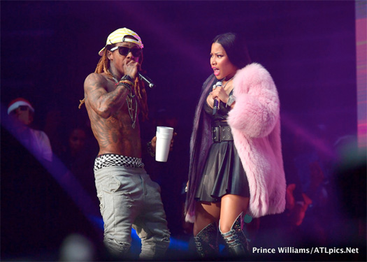 Lil Wayne Performs Steady Mobbin With Gucci Mane & No Frauds With Nicki Minaj At Hot 107.9 2017 Birthday Bash In Atlanta