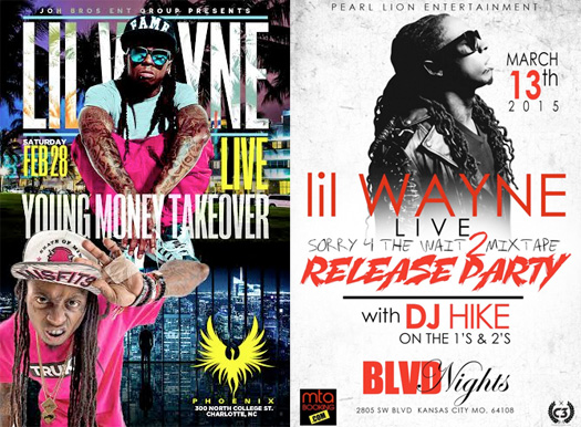 Lil Wayne To Host 2 Events In February & March