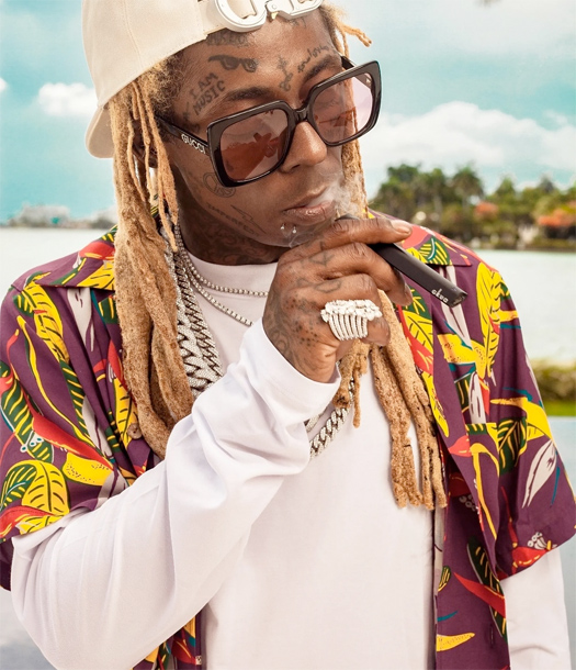 Lil Wayne Photo Shoot For His New Cannabis Brand GKUA Ultra Premium