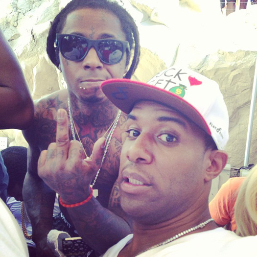 Lil Wayne Chills At A Pool Party With Diddy, Meek Mill, Fabolous & More