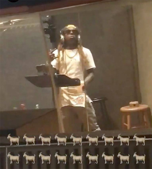 Lil Wayne Plays A Prank On Poppy Holden After He Fell Asleep During A Studio Session