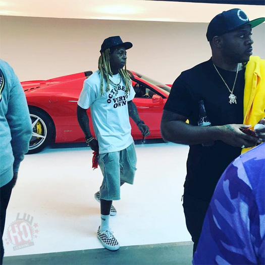 Lil Wayne & Preme Shoot A Music Video At The BILL BRADY Art Gallery In Miami