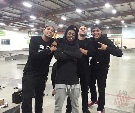 Lil Wayne Pulls Off New Skateboarding Moves At The Berrics Skatepark In Los Angeles