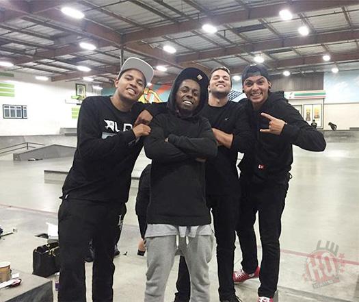 Lil Wayne Pulls Off New Skateboarding Moves At The Berrics Skatepark In Los Angeles