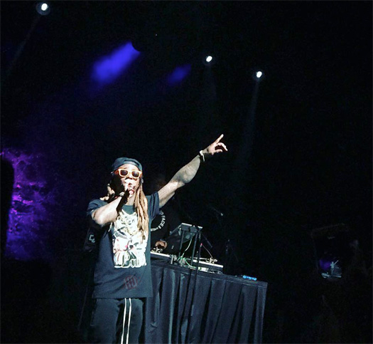 Lil Wayne Puts On A Live Show At The Cuthbert Amphitheater In Eugene Oregon