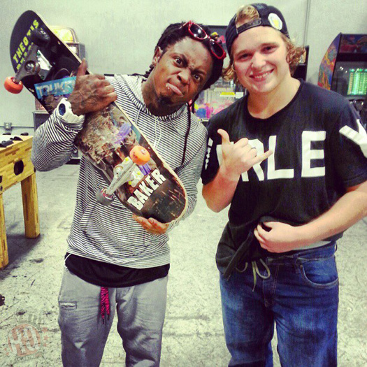 Lil Wayne Skates At Ramp 48 Indoor Skatepark In Florida