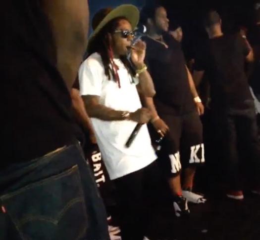 Lil Wayne Raps & Jams Out To Chedda Da Connect Flicka Da Wrist At XO Nightclub In Baton Rouge