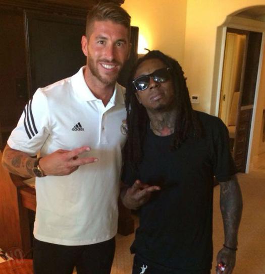 Lil Wayne Meets Real Madrid Players Sergio Ramos, Pepe & Jesus In Miami