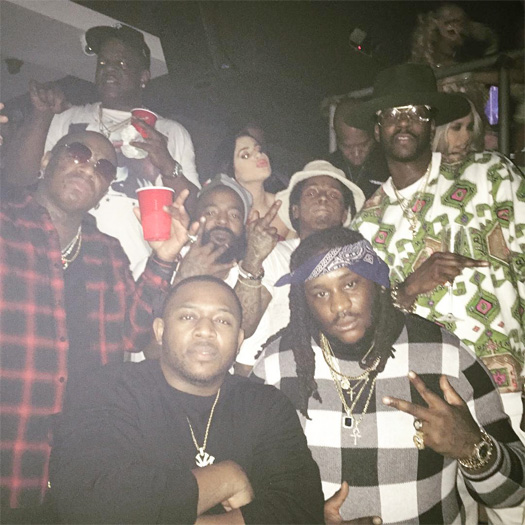 Lil Wayne Reunites With Birdman At Drake New Years Eve Party In Miami