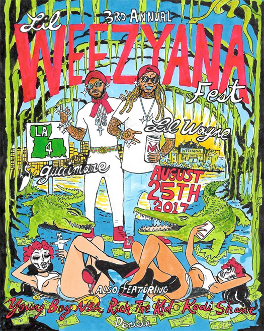 Lil Wayne Reveals Lineup For 2017 Annual Lil Weezyana Fest