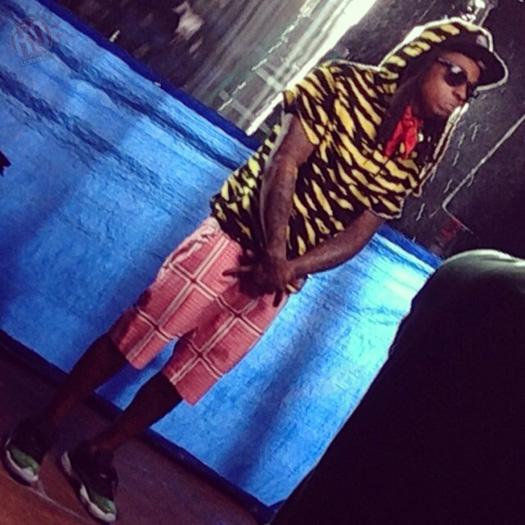 Lil Wayne On Set Of Rick Ross Thug Cry Video Shoot