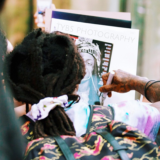 Lil Wayne Spotted Exiting The Ritz Carlton Hotel In Charlotte, Signs Autographs For Fans
