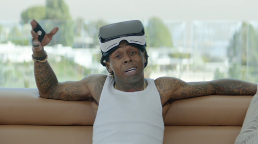 Lil Wayne Appears In Samsung Canoe & Elephant Baby Commercials With Wesley Snipes